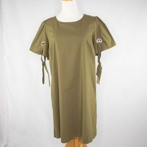 Marled sage green shift dress size S
